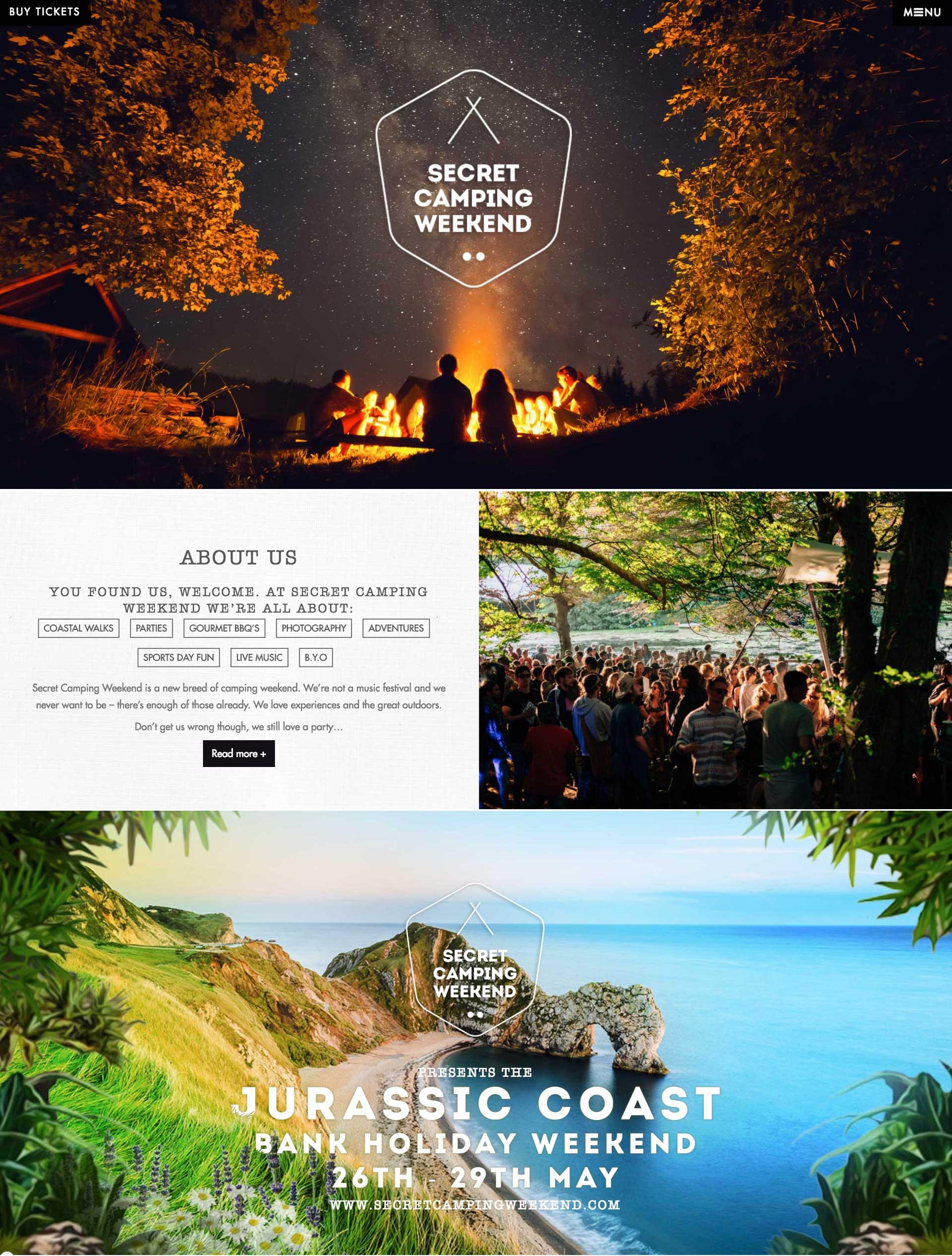 Secret Camping Weekend